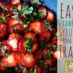 Easy Homemade Strawberry Syrup from Your Trash