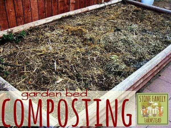 Garden Bed Composting - Stone Family Farmstead