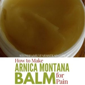 Tub of homemade balm with the title