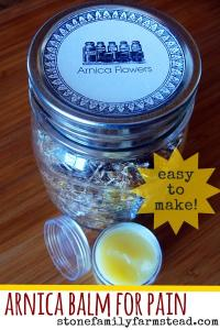 Arnica Balm for Pain - Stone Family Farmstead.com