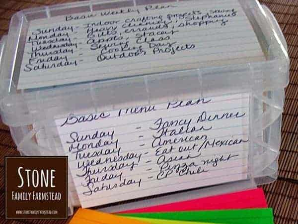 Home Management for the Homesteader {Index Card System} - Stone Family Farmstead