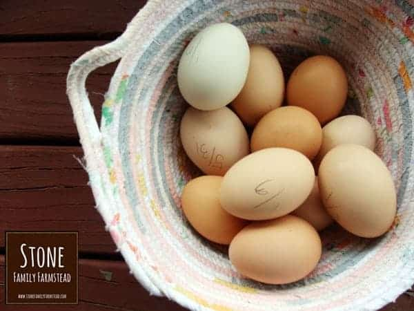 eggs in a basket - How to Make Chicken Feed for Layers - Stone Family Farmstead
