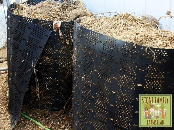 compost piles - Stone Family Farmstead