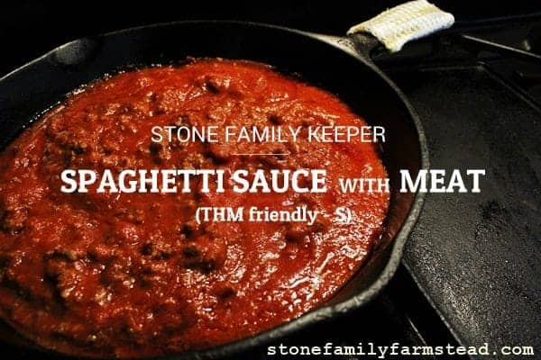 Stone Family Keeper - Spaghetti Sauce with Meat