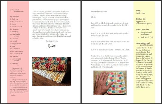 Easy Rectangle Crochet Pattern PDF download