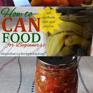 home canned peppers and salsa with the title