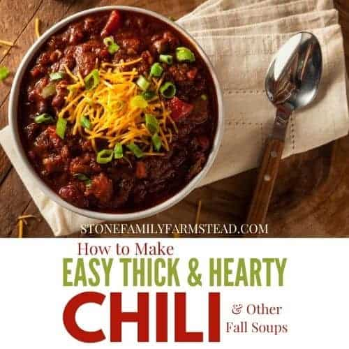 bowl of thick and hearty chili at a place setting