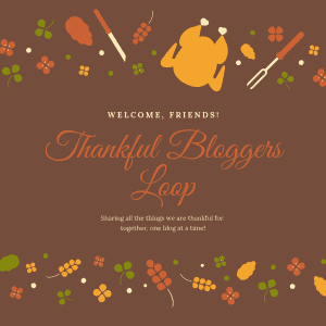 brown background with turkey and other thanksgiving graphics with the title
