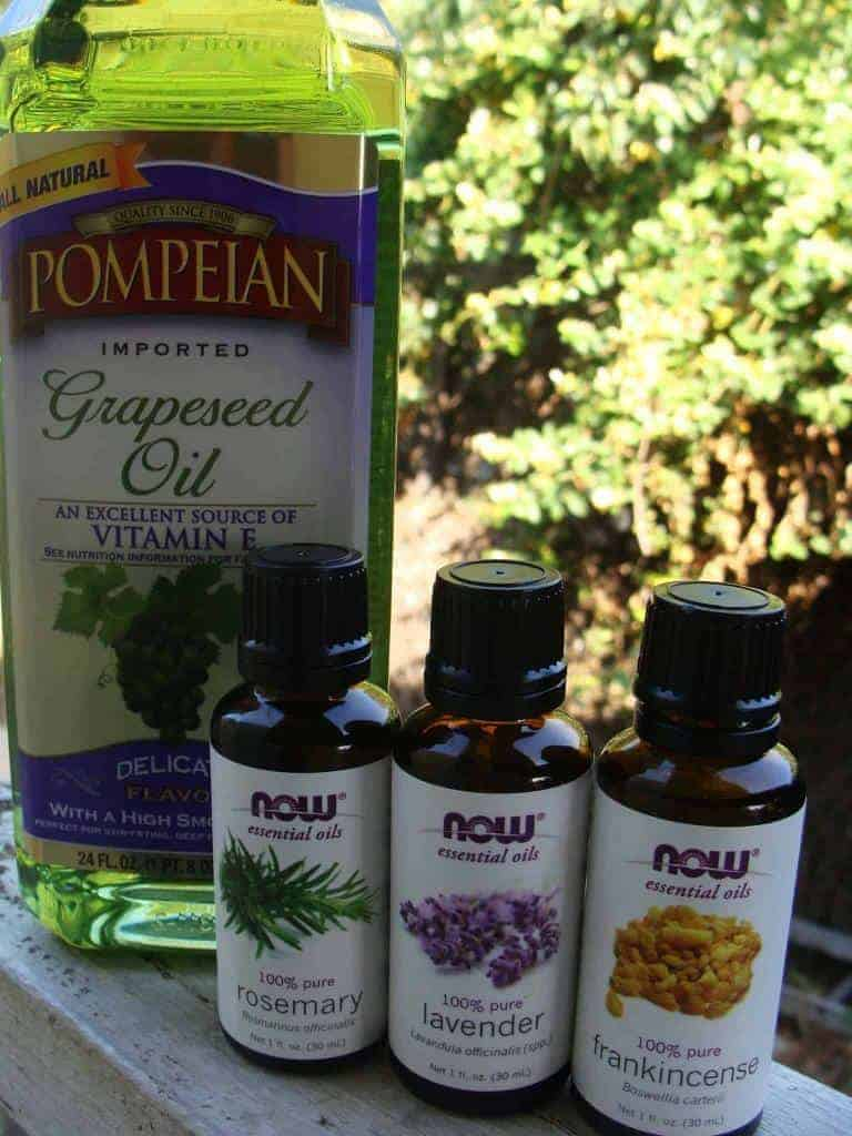 essential oils and grapeseed oil - homesteading for beginners - stone family farmstead