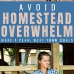 How to Homestead When You Are Feeling Overwhelmed - Stone Family Farmsteada