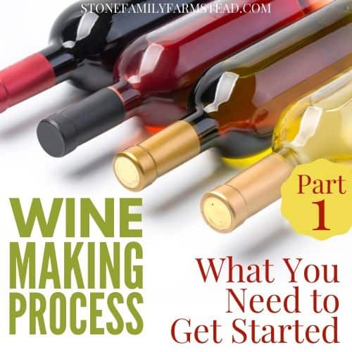 """bottles of wine with the title """"Wine Making Process Part 1 - Stone Family Farmstead"""""""