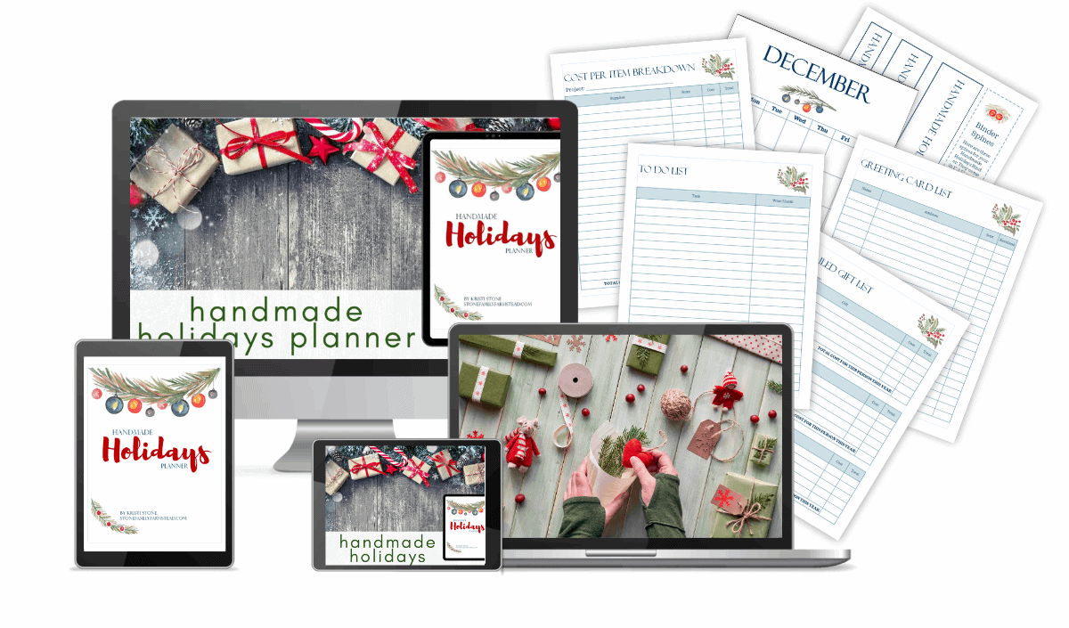 handmade holidays planner pages and photos in various media