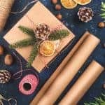 Christmas gifts wrapped in handmade, rustic ways