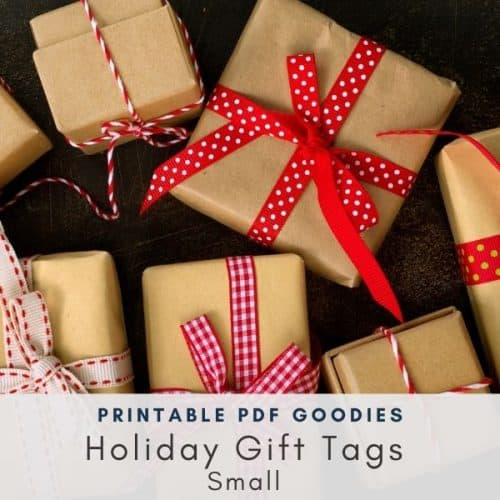Small Holiday Gift Tags