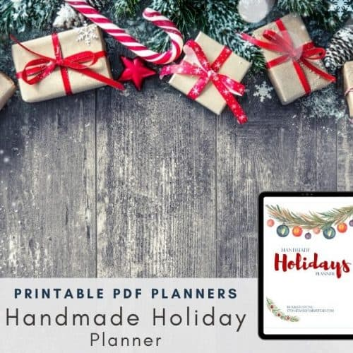 Handmade Holiday Planner