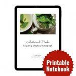 Medicinal Herbs Materia Medica Notebook by Kristi Stone